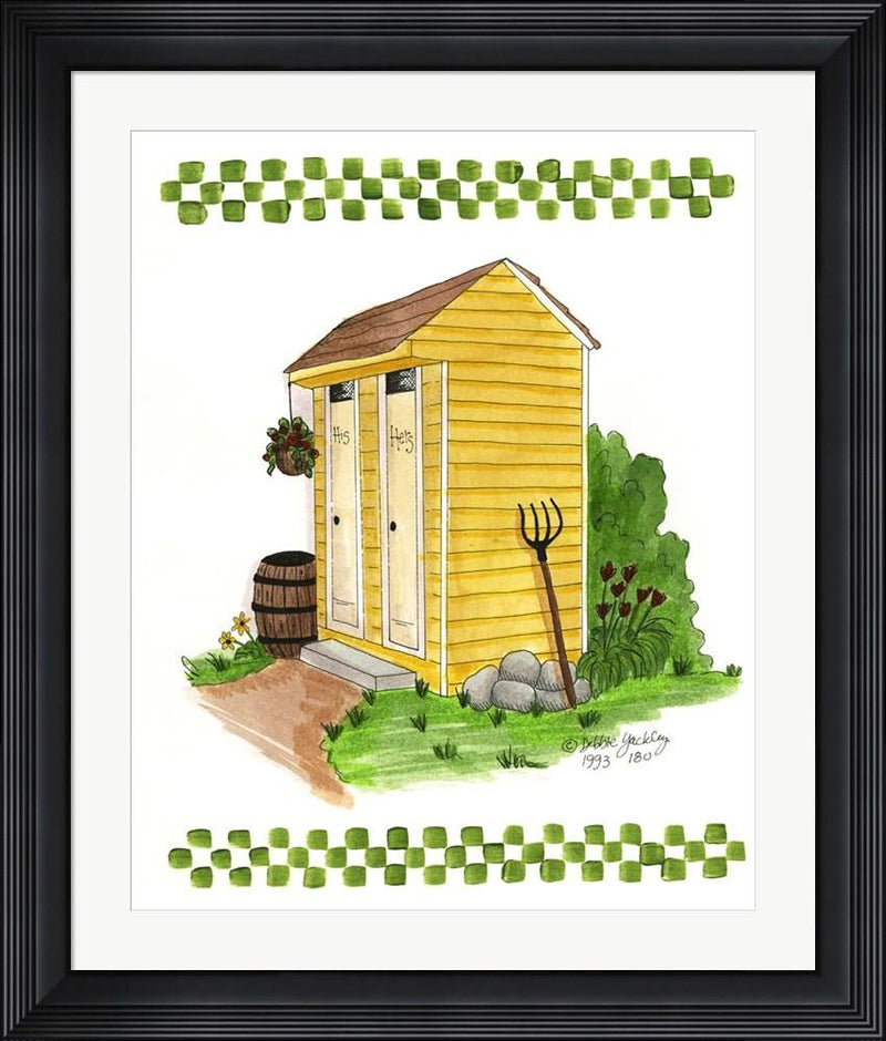 Debbie McMaster Yellow Double Outhouse Contemporary Stepped Solid Black with Satin Finish R851362-AEAEAGME8E