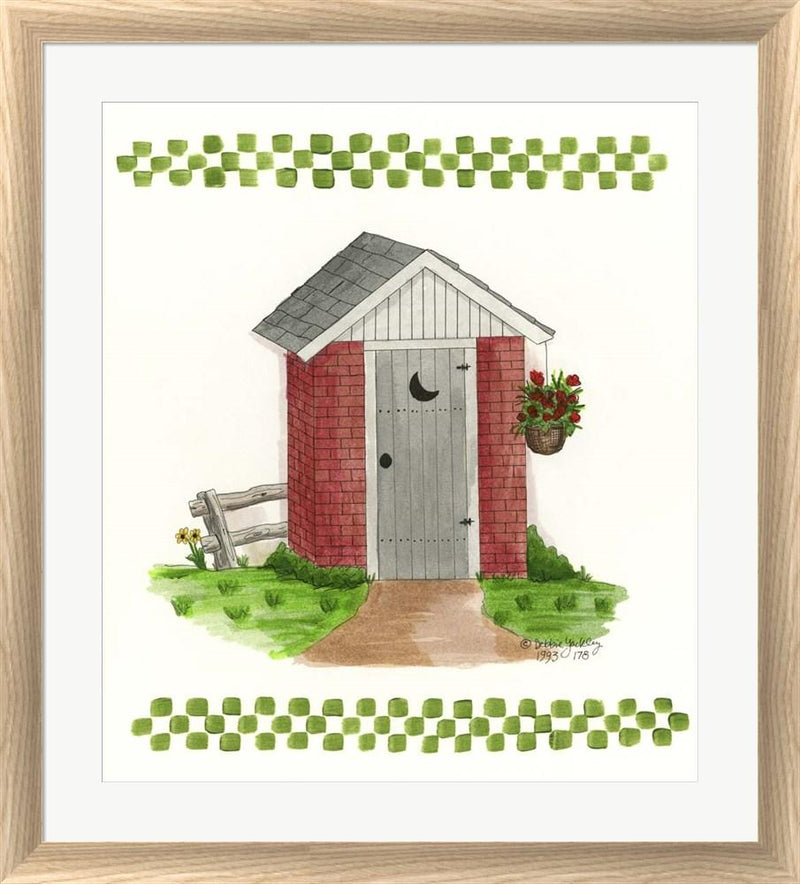 Debbie McMaster Brick Outhouse White Washed Rounded Oatmeal Faux Wood R851364-AEAEAGJEMY