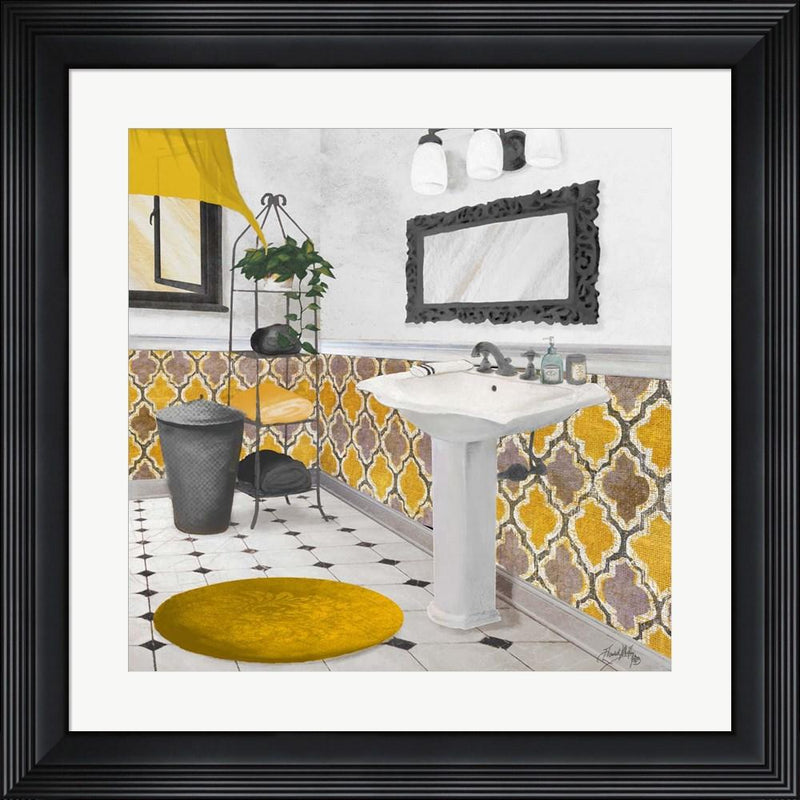 Elizabeth Medley Sundance Bath II (yellow) Contemporary Stepped Solid Black with Satin Finish R871113-AEAEAGME8E