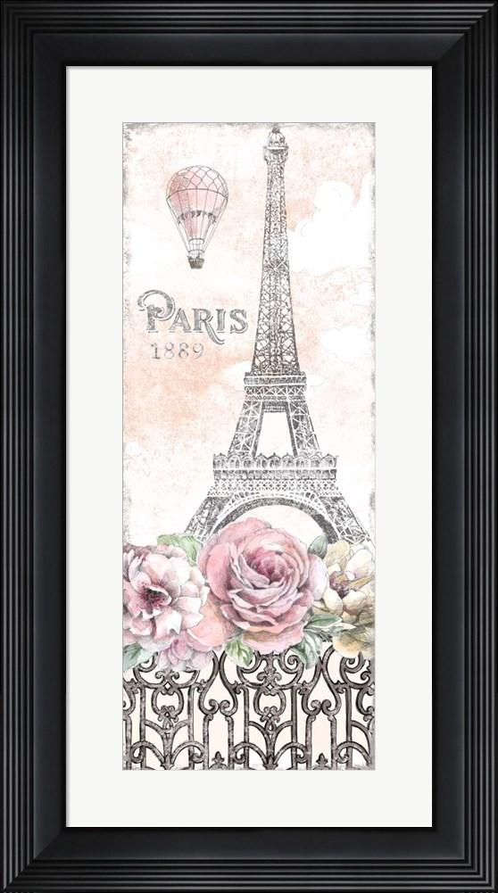 Beth Grove Paris Roses Panel VIII Contemporary Stepped Solid Black with Satin Finish R873711-AEAEAGME8E