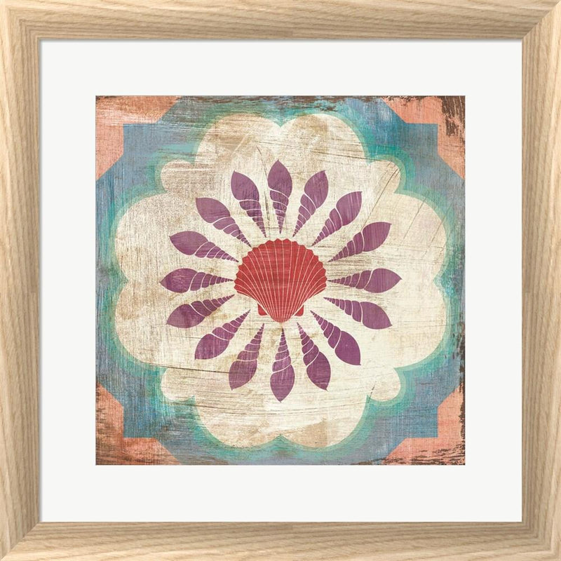 Cleonique Hilsaca Bohemian Sea Tiles VI White Washed Rounded Oatmeal Faux Wood R873723-AEAEAGJEMY