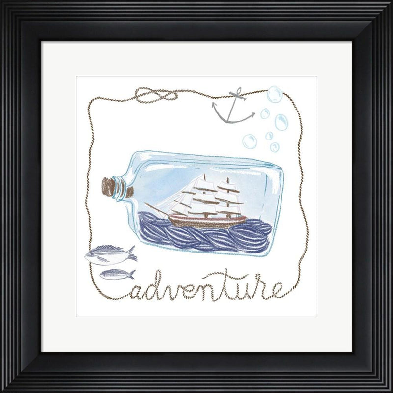 Sara Zieve Miller Ship in a Bottle Adventure Contemporary Stepped Solid Black with Satin Finish R881395-AEAEAGME8E