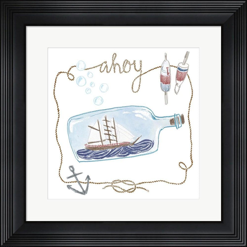 Sara Zieve Miller Ship in a Bottle Ahoy Contemporary Stepped Solid Black with Satin Finish R881396-AEAEAGME8E