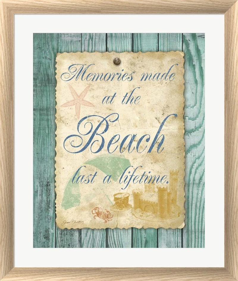 Jean Plout Beach Notes I White Washed Rounded Oatmeal Faux Wood R884027-AEAEAGJEMY