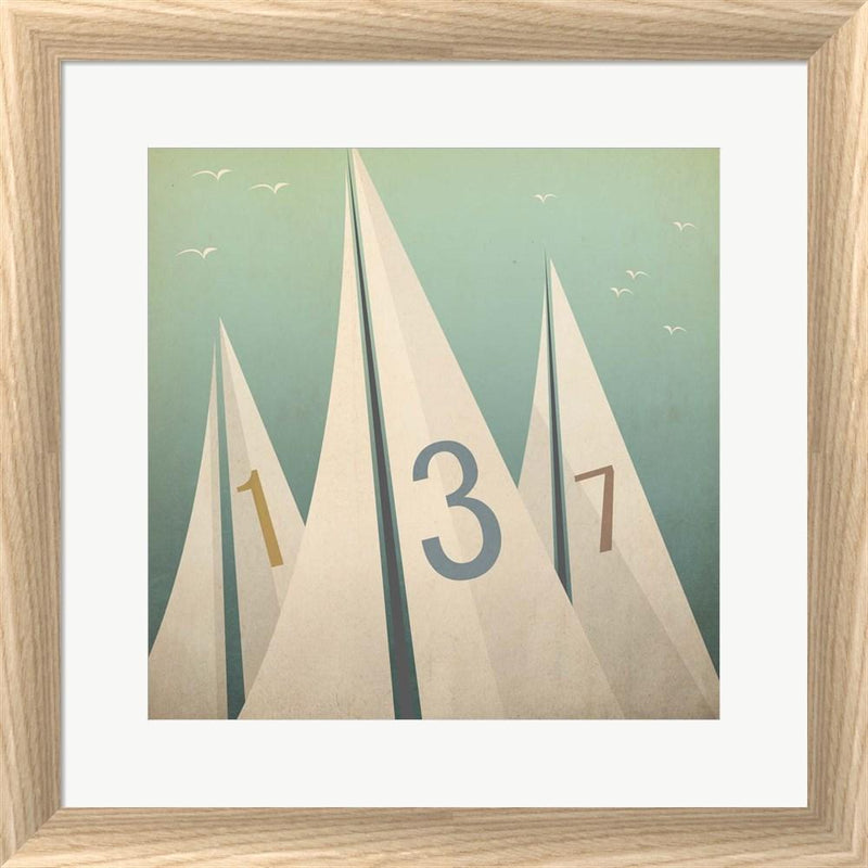 Ryan Fowler Sails VII White Washed Rounded Oatmeal Faux Wood R885733-AEAEAGJEMY
