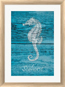 Cora Niele Blue Wood Seahorse White Washed Rounded Oatmeal Faux Wood R893097-AEAEAGJEMY