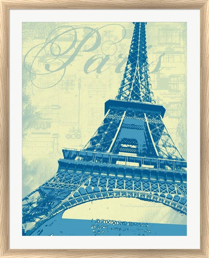 P.S. Art Studios Paris Eiffel Tower White Washed Rounded Oatmeal Faux Wood R893477-AEAEAGJEMY