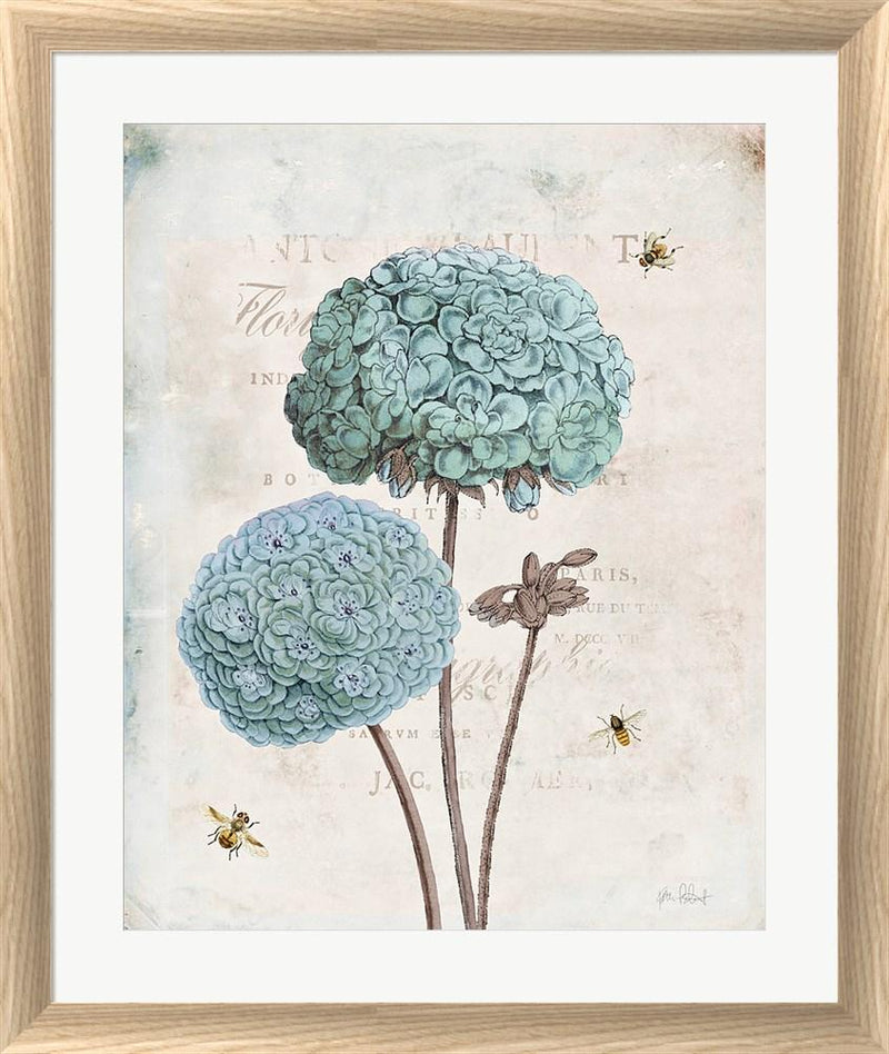 Katie Pertiet Geranium Study II White Washed Rounded Oatmeal Faux Wood R898986-AEAEAGJEMY