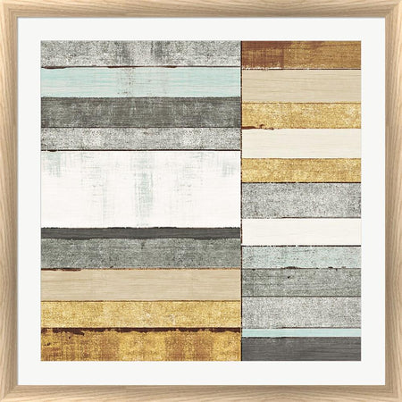 Michael Mullan Beachscape II Gold Neutral White Washed Rounded Oatmeal Faux Wood R899147-AEAEAGJEMY