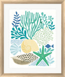 Michael Mullan Under Sea Treasures V Sea Glass White Washed Rounded Oatmeal Faux Wood R899203-AEAEAGJEMY