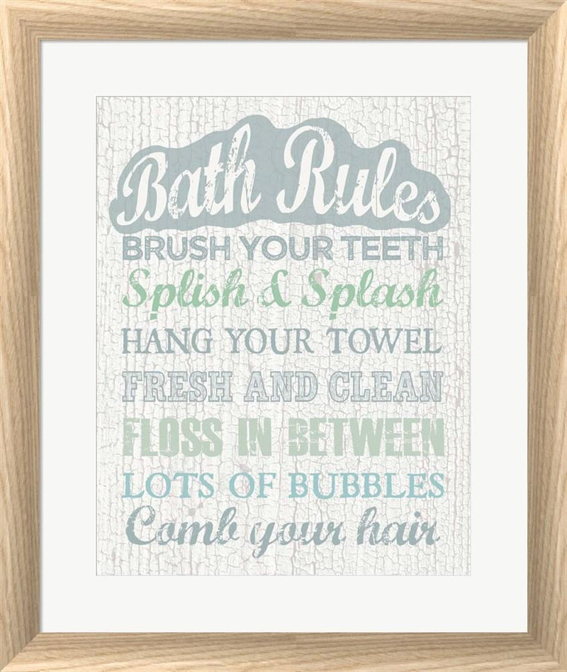 Erin Clark Bath Rules White Washed Rounded Oatmeal Faux Wood R912421-AEAEAGJEMY