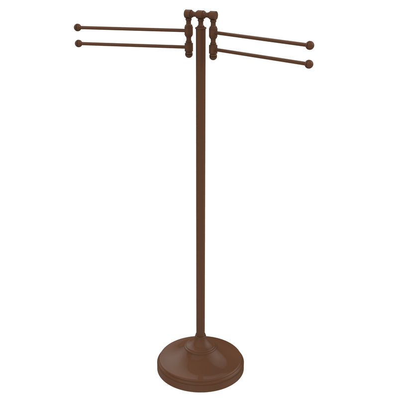 Allied Brass Towel Stand with 4 Pivoting Swing Arms RDM-8-ABZ