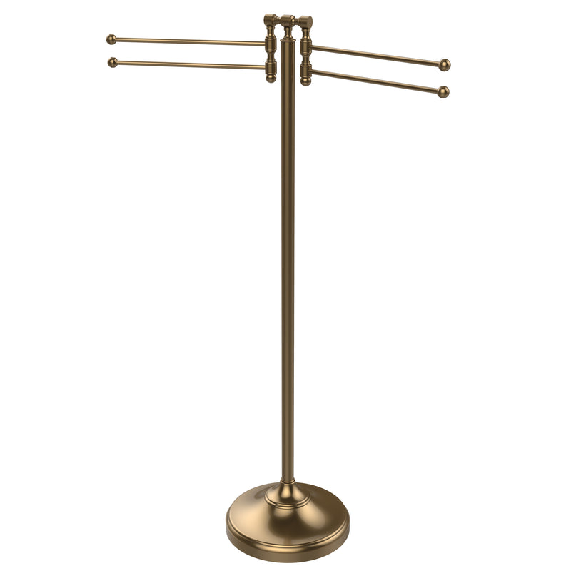 Allied Brass Towel Stand with 4 Pivoting Swing Arms RDM-8-BBR