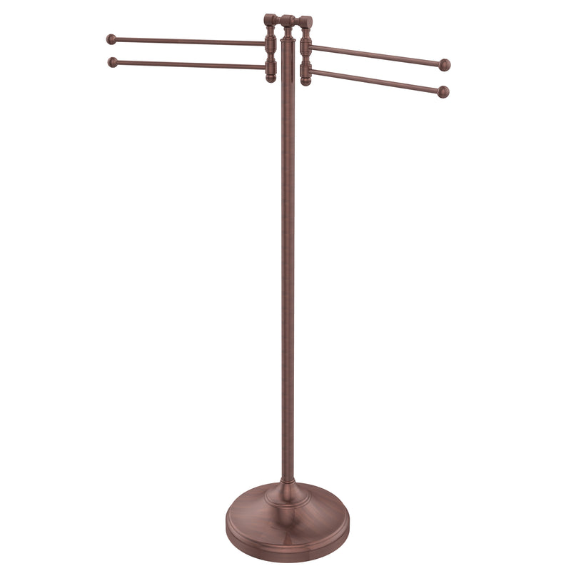 Allied Brass Towel Stand with 4 Pivoting Swing Arms RDM-8-CA