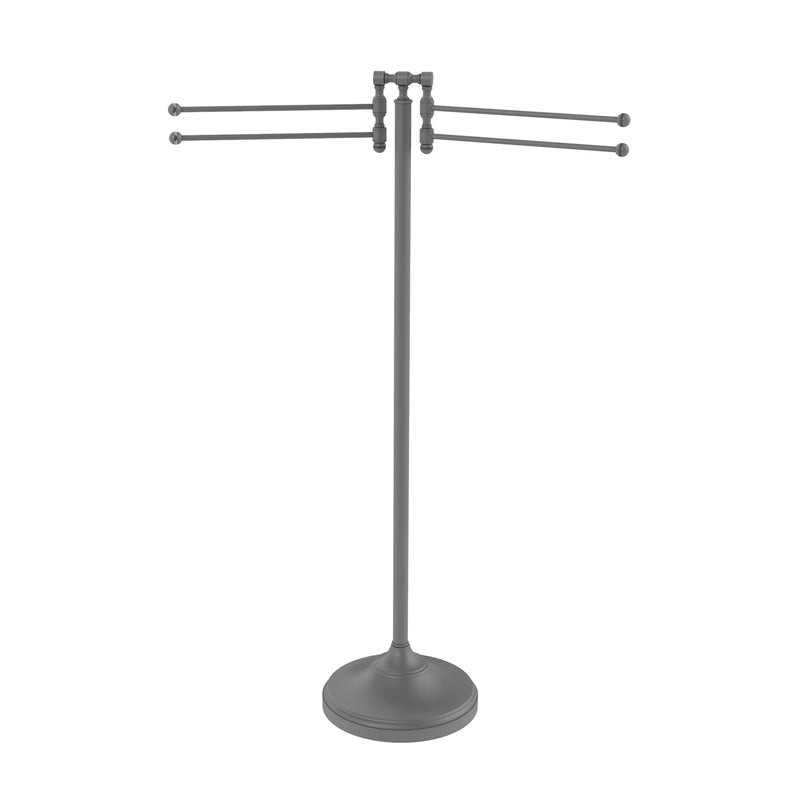 Allied Brass Towel Stand with 4 Pivoting Swing Arms RDM-8-GYM