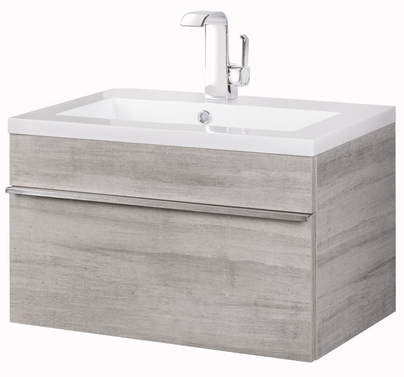 "Cutler Trough Collection 24"" Wall Mount Modern Bathroom Vanity - Soho"