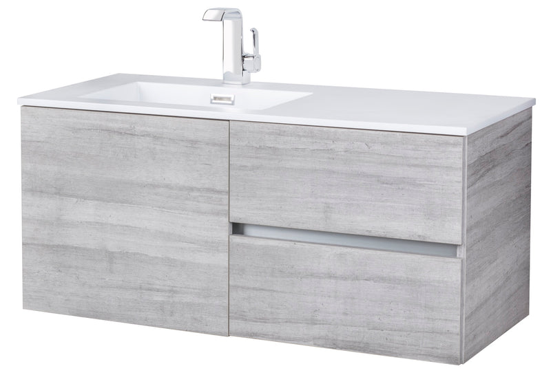 "Cutler Beachwood Collection 42"" Wall Mount Modern Bathroom Vanity - Soho"