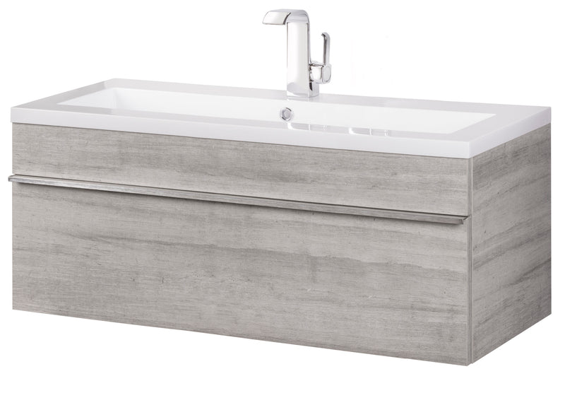 "Cutler Trough Collection 42"" Wall Mount Modern Bathroom Vanity - Soho"