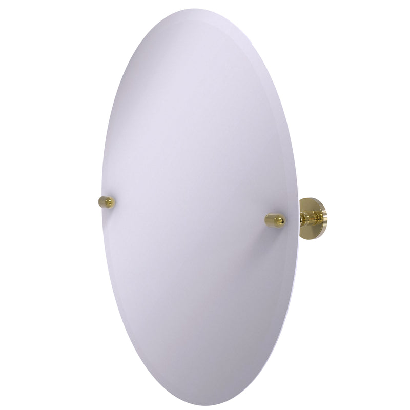Allied Brass Frameless Oval Tilt Mirror with Beveled Edge TA-91-UNL