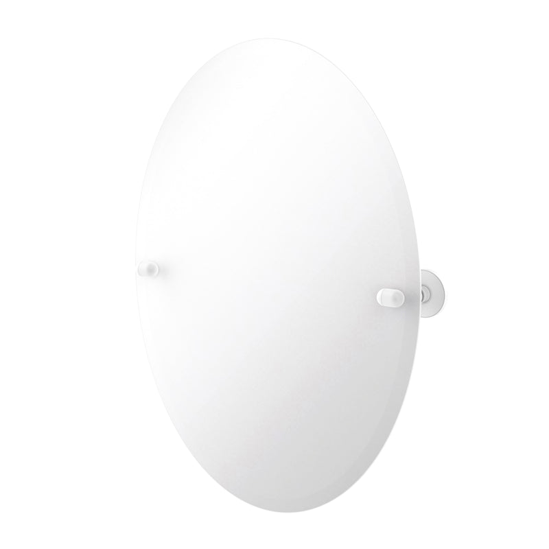 Allied Brass Frameless Oval Tilt Mirror with Beveled Edge TA-91-WHM