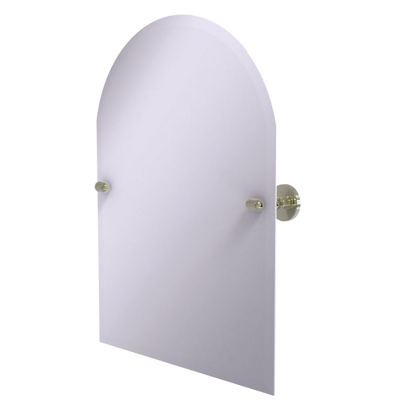 Allied Brass Frameless Arched Top Tilt Mirror with Beveled Edge TA-94-PNI