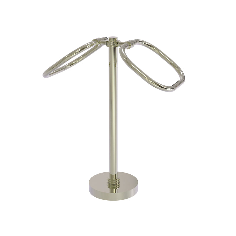 Allied Brass Two Ring Oval Guest Towel Holder TB-20D-PNI