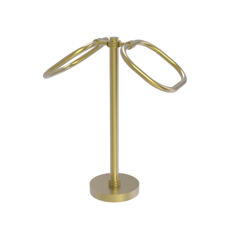 Allied Brass Two Ring Oval Guest Towel Holder TB-20D-SBR
