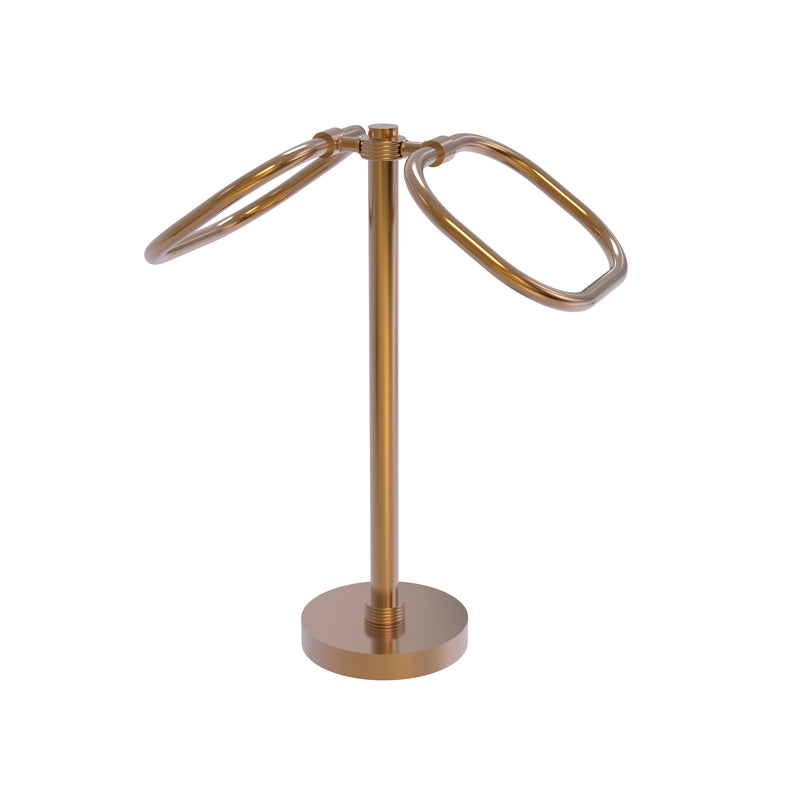 Allied Brass Two Ring Oval Guest Towel Holder TB-20G-BBR