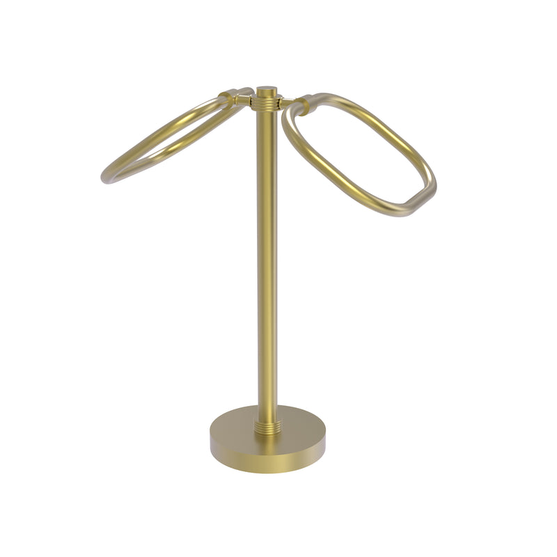 Allied Brass Two Ring Oval Guest Towel Holder TB-20G-SBR