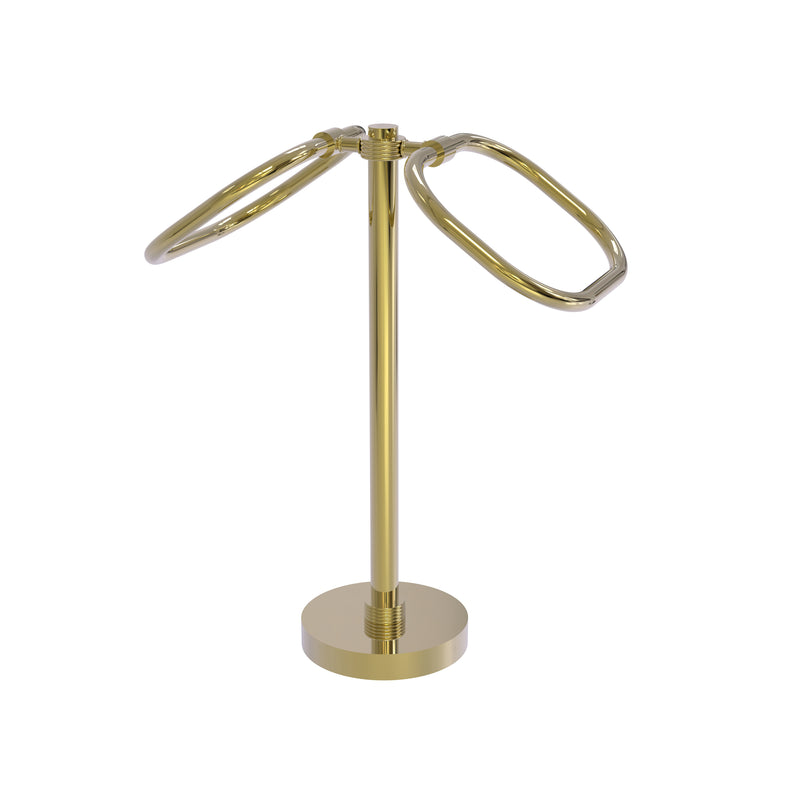 Allied Brass Two Ring Oval Guest Towel Holder TB-20G-UNL