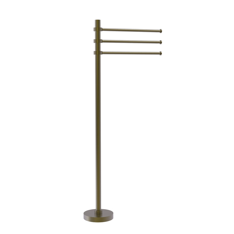 Allied Brass Towel Stand with 3 Pivoting 12 Inch Arms TS-45-ABR