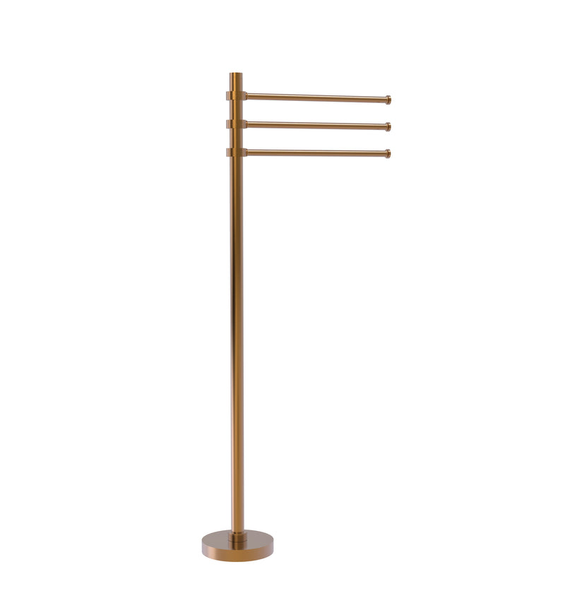 Allied Brass Towel Stand with 3 Pivoting 12 Inch Arms TS-45-BBR