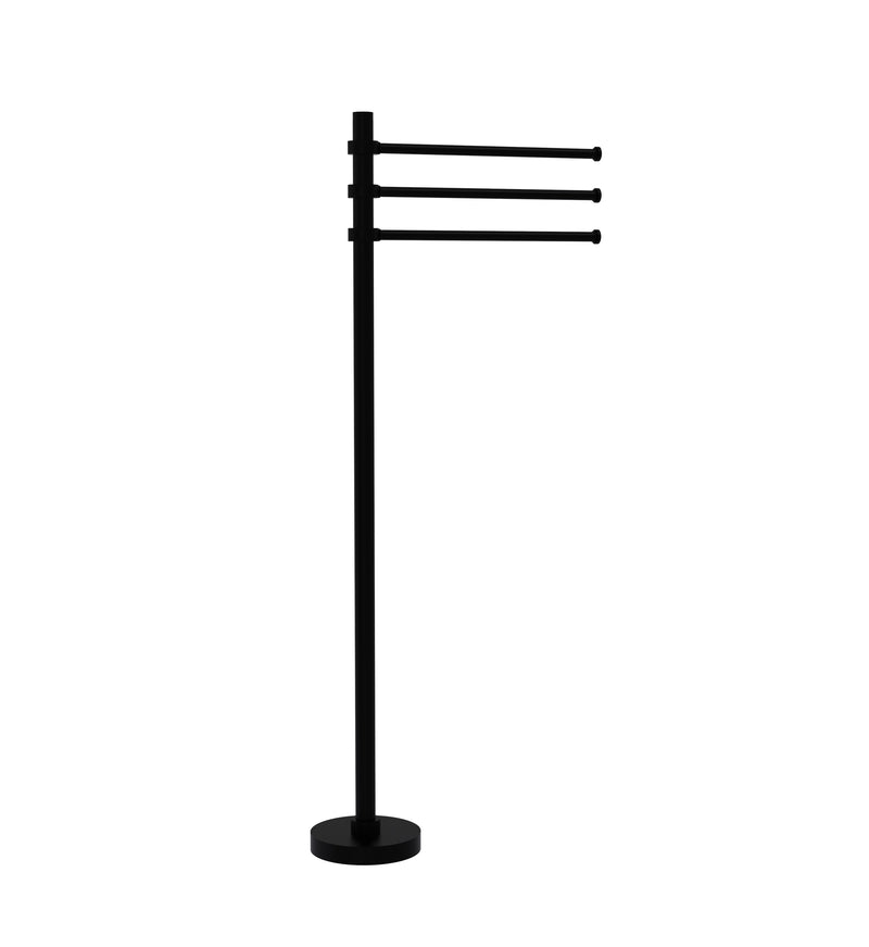 Allied Brass Towel Stand with 3 Pivoting 12 Inch Arms TS-45-BKM