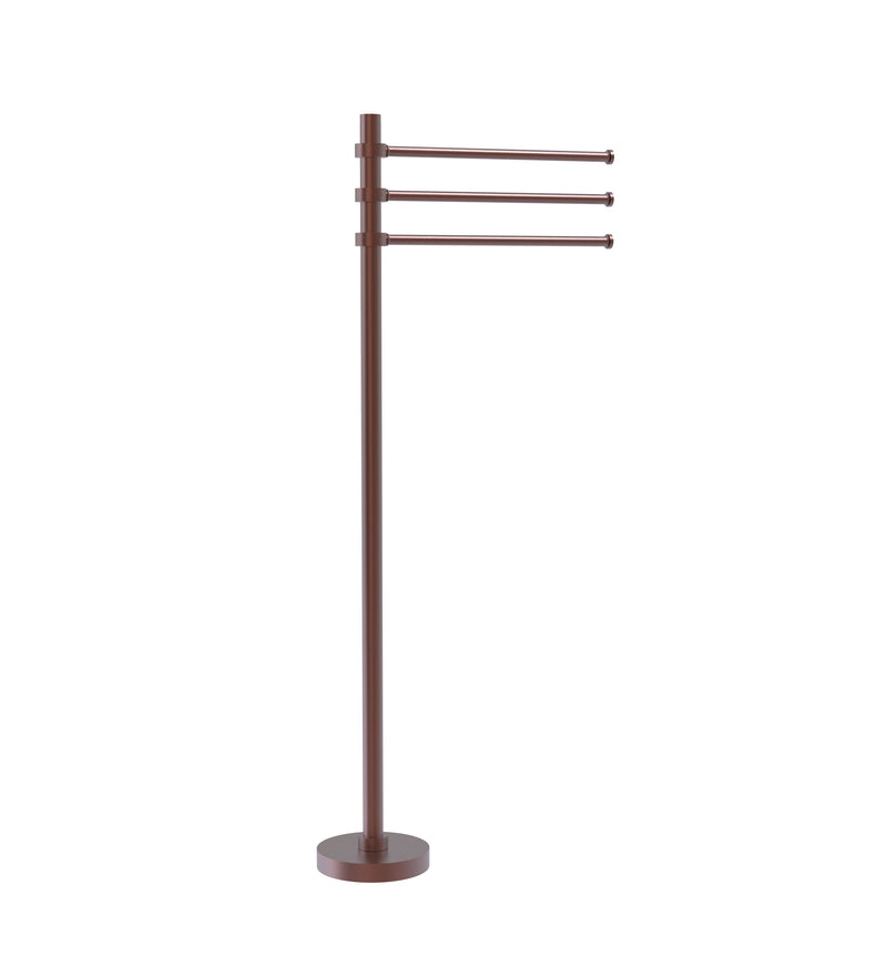 Allied Brass Towel Stand with 3 Pivoting 12 Inch Arms TS-45-CA