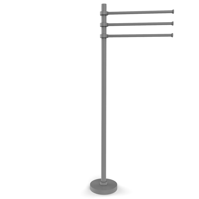 Allied Brass Towel Stand with 3 Pivoting 12 Inch Arms TS-45-GYM