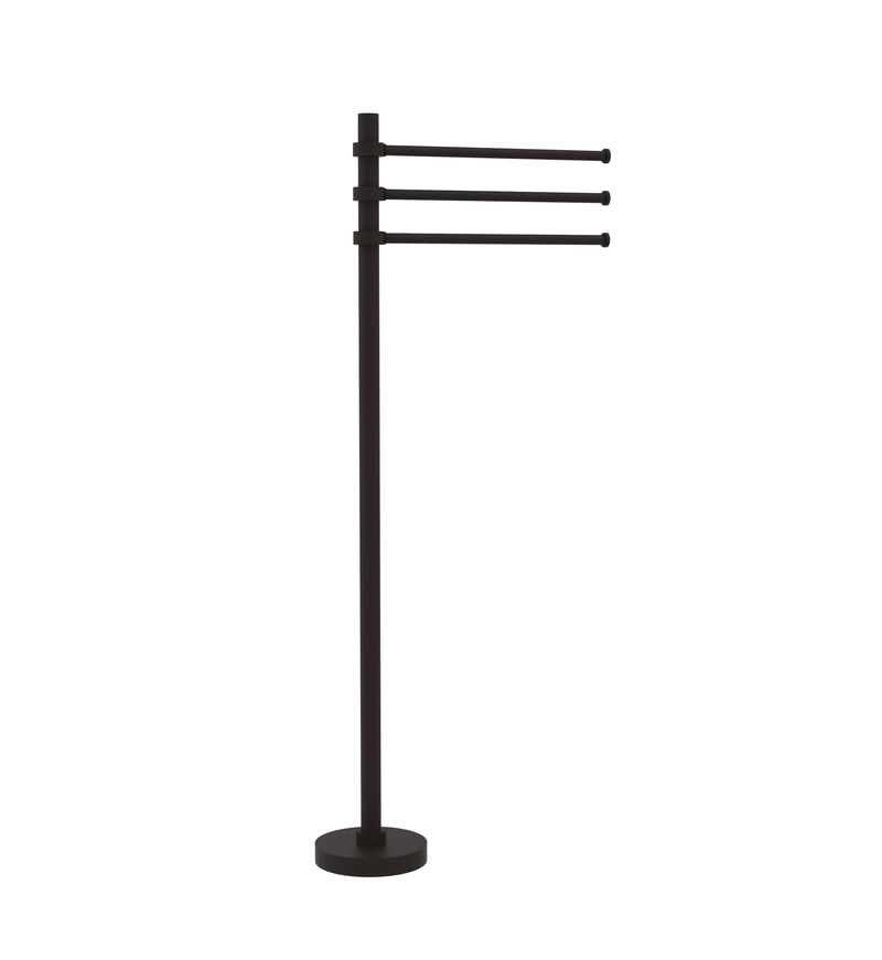 Allied Brass Towel Stand with 3 Pivoting 12 Inch Arms TS-45-ORB