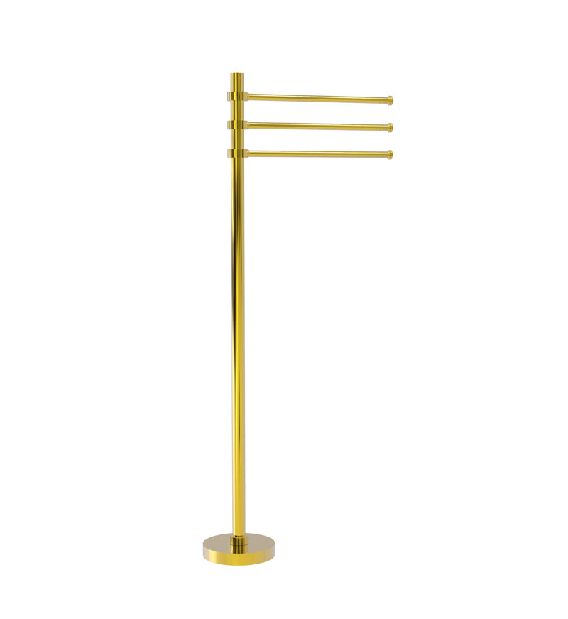 Allied Brass Towel Stand with 3 Pivoting 12 Inch Arms TS-45-PB