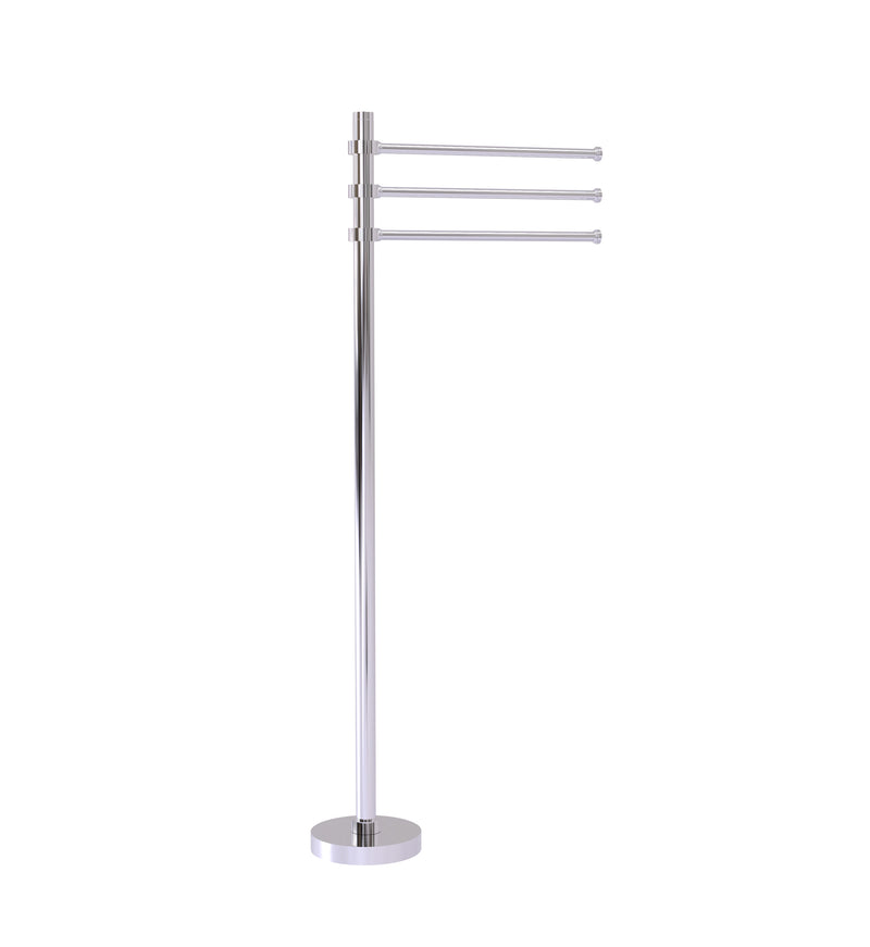 Allied Brass Towel Stand with 3 Pivoting 12 Inch Arms TS-45-PC