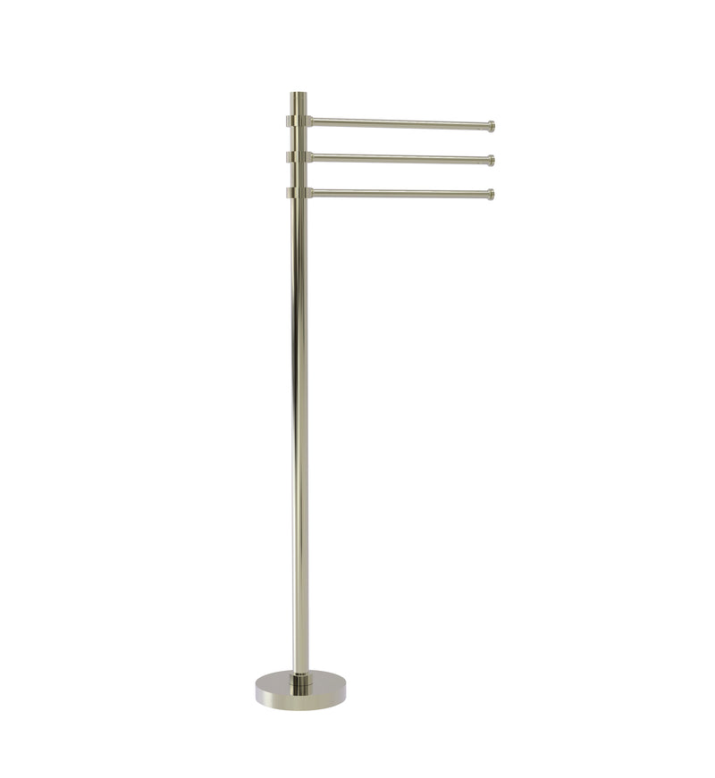 Allied Brass Towel Stand with 3 Pivoting 12 Inch Arms TS-45-PNI