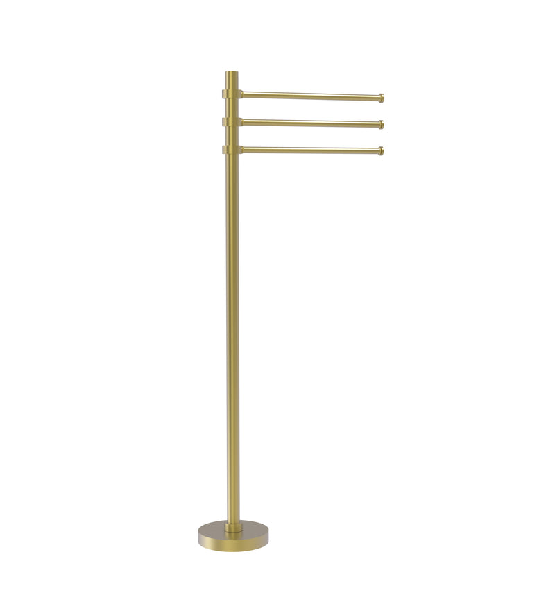 Allied Brass Towel Stand with 3 Pivoting 12 Inch Arms TS-45-SBR