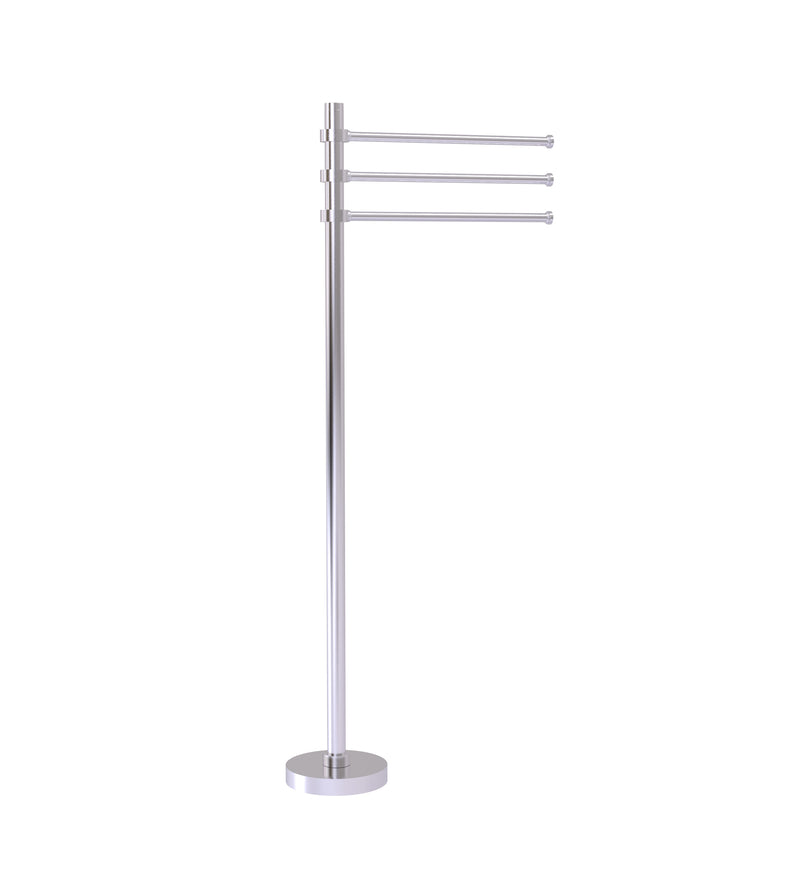 Allied Brass Towel Stand with 3 Pivoting 12 Inch Arms TS-45-SCH
