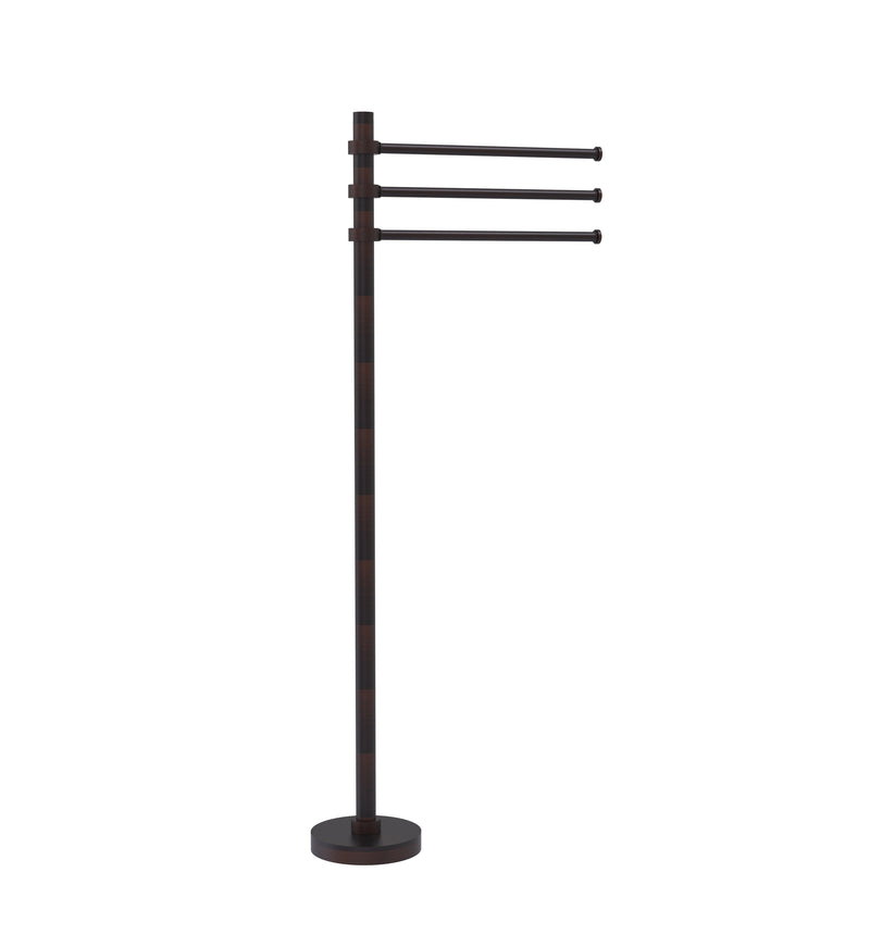 Allied Brass Towel Stand with 3 Pivoting 12 Inch Arms TS-45-VB