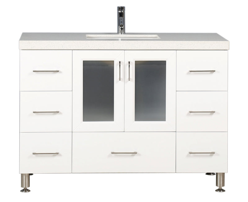 "Design Element Westfield 48"" Single Sink Vanity in White"