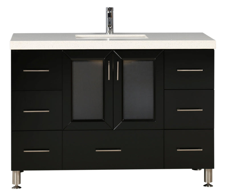"Design Element Westfield 48"" Single Sink Vanity in Espresso"