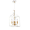 Dainolite 4 Light Chandelier, White Finish WIN-214C-WH