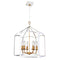 Dainolite 6 Light Chandelier, White Finish WIN-236C-WH