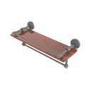 Allied Brass Waverly Place Collection 16 Inch IPE Ironwood Shelf with Gallery Rail and Towel Bar WP-1-16TB-GAL-IRW-GYM