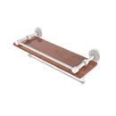 Allied Brass Waverly Place Collection 16 Inch IPE Ironwood Shelf with Gallery Rail and Towel Bar WP-1-16TB-GAL-IRW-WHM