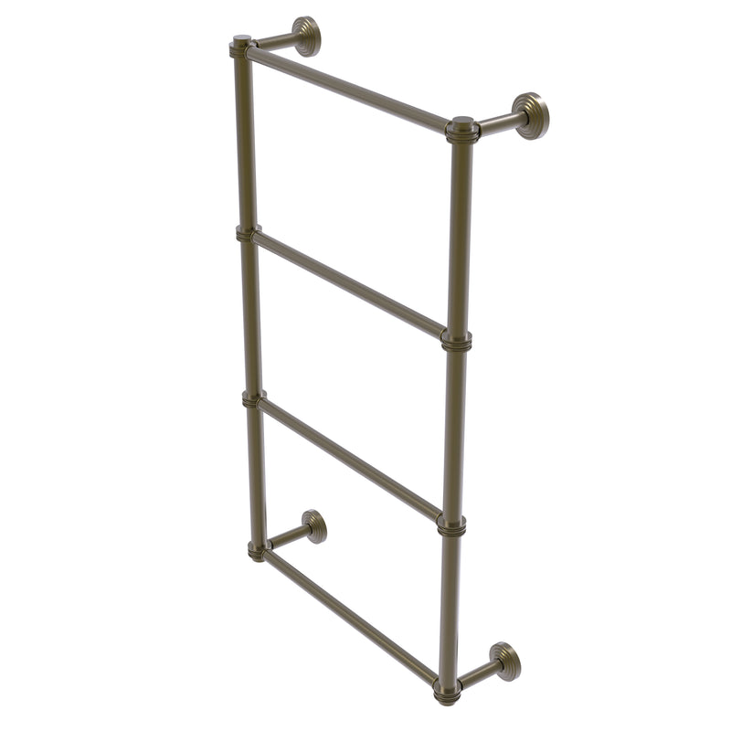 Allied Brass Waverly Place Collection 4 Tier 30 Inch Ladder Towel Bar with Dotted Detail WP-28D-30-ABR