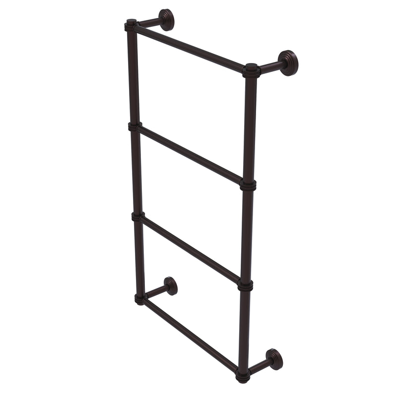 Allied Brass Waverly Place Collection 4 Tier 30 Inch Ladder Towel Bar with Dotted Detail WP-28D-30-ABZ